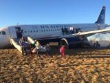 US Airways jet aborts takeoff in Philadelphia; suffers gear collapse