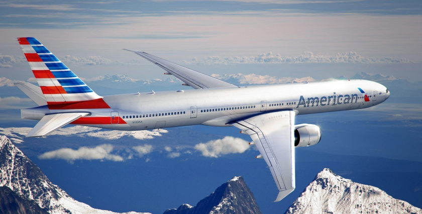 A Boeing 777-300 in American's new livery. Photo courtesy American Airlines.